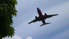 Southwest Airlines Overhead Landing - stock footage