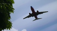 Stock Video Footage of Southwest Airlines Overhead Landing