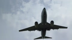 Jumbo Jet Flying Overhead Stock Footage