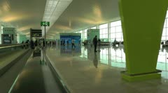 Airport walkway Stock Footage