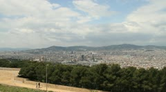 Panoramic of Barcelona from Montjuic Stock Footage
