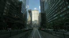 Time lapse of traffic and the Met Life building in New York Stock Footage
