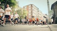 Street Marathon 2 Stock Footage