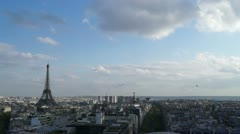 panorama over Paris - stock footage