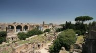 The Roman Forum and Colosseum in Rome, Italy Stock Footage