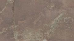P01918 Petroglyph at Capital Reef National Park Stock Footage