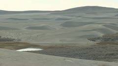P01929 Sand Dunes in Red Desert in Wyoming Stock Footage