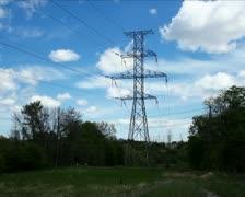 Electricity pylon PAL - stock footage