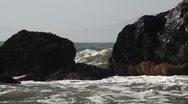 Stock Video Footage of Waves Crashing Against Rocks