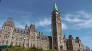 Canadian Parliament Building Exterior Time Lapse Stock Footage