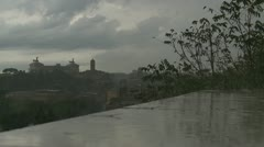 Heavier rain over Rome Stock Footage