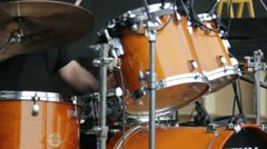 Musician playing drums Stock Footage