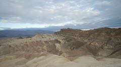 View of Zabriskie Point in Death Valley Stock Footage