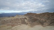 Stock Video Footage of View of Zabriskie Point in Death Valley
