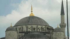 The dome of the Blue Mosque in Istanbul, Turkey Stock Footage