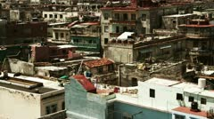 Rooftops havana cuba Stock Footage
