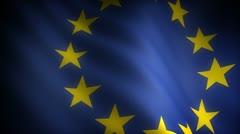 Flag of European Community (seamless) Stock Footage