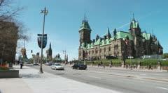 East Block Of Parliament Ottawa Stock Footage