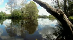 Beautiful River Scene 4 - Dartington HD Stock Footage