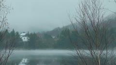 Lake Mist Time Lapse Stock Footage