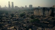 Stock Video Footage of Mumbai city slum with tilt-shift effect.