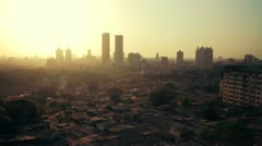 Time lapse of Mumbai city skyline at sunset. - stock footage