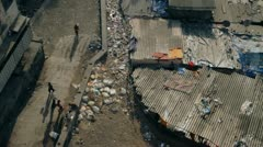 Overlooking poor area in Mumbai Stock Footage