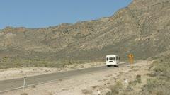 The White Bus 7 Heading to Alamo on 375 2 Stock Footage