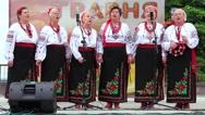 Ukrainian folk song. Women in ukrainian traditional costume sing ukrainian song Stock Footage