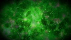 Space  galaxy travel green Stock Footage