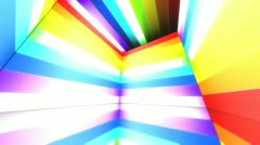 Virtual Scene Rainbow Color Line 3 Stock Footage
