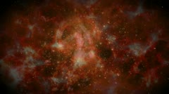 Space galaxy travel orange Stock Footage
