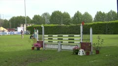 Horse race jump 23 Stock Footage