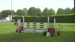 Horse race jump 21 Stock Footage