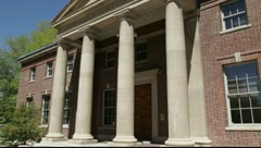 889 generic college library, courthouse, fed building Stock Footage