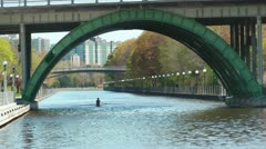 Stock Video Footage of Rowing On The Rideau Canal