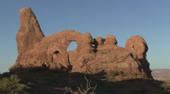 P01943 Rock Formation at Arches National Park in Utah Stock Footage