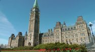Stock Video Footage of Springtime On Parliament Hill Ottawa