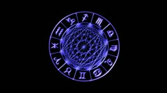 Zodiac Wheel - Loop - stock footage