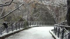 Neve a Roma 2012 Stock Footage