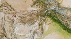 Afghanistan, zooming into large view Stock Footage