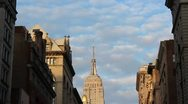 Stock Video Footage of Empire State Building from 5th Ave