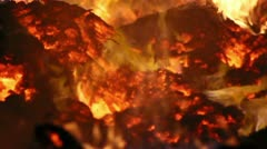 Fire Detail Clip 22 Stock Footage