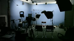 Video studio set Stock Footage
