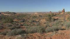P01945 Desert Landscape at Arches National Park in Southwestern United States - stock footage