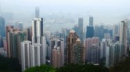 Skyline of Hong Kong city from victoria peak. day to night.  time lapse Stock Footage
