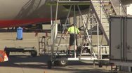 Stock Video Footage of aircraft ground operations- emptying sullage tamks