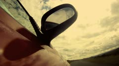 Car Driving Side POV - Gopro HD - stock footage
