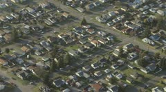 Suburban Neighborhood at Sunrise - Aerial Stock Footage