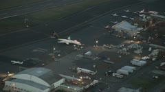 UPS Freight Airliner on Ramp at Airport Stock Footage